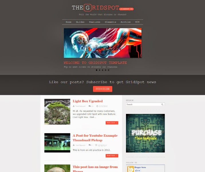 Grid Spot Responsive Blogger Template