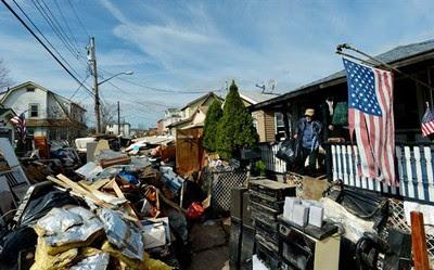 Zona devastada por huracán Sandy
