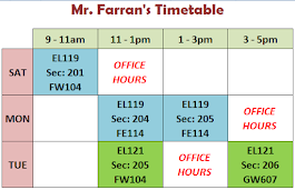 My Timetable