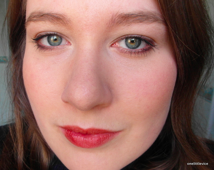 One Little Vice Beauty Blog: LippyGirl Vegan Natural Organic Makeup Red Lipstick