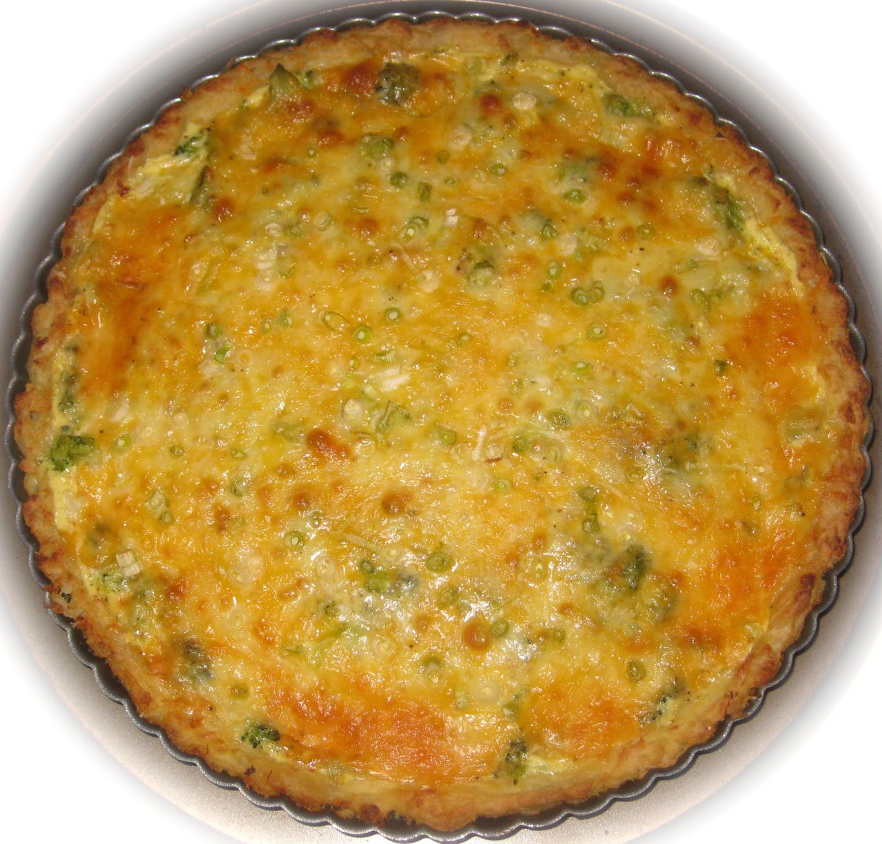 ... Arepas to Zwetschgen: Broccoli Cheese Quiche with Mashed Potato Crust