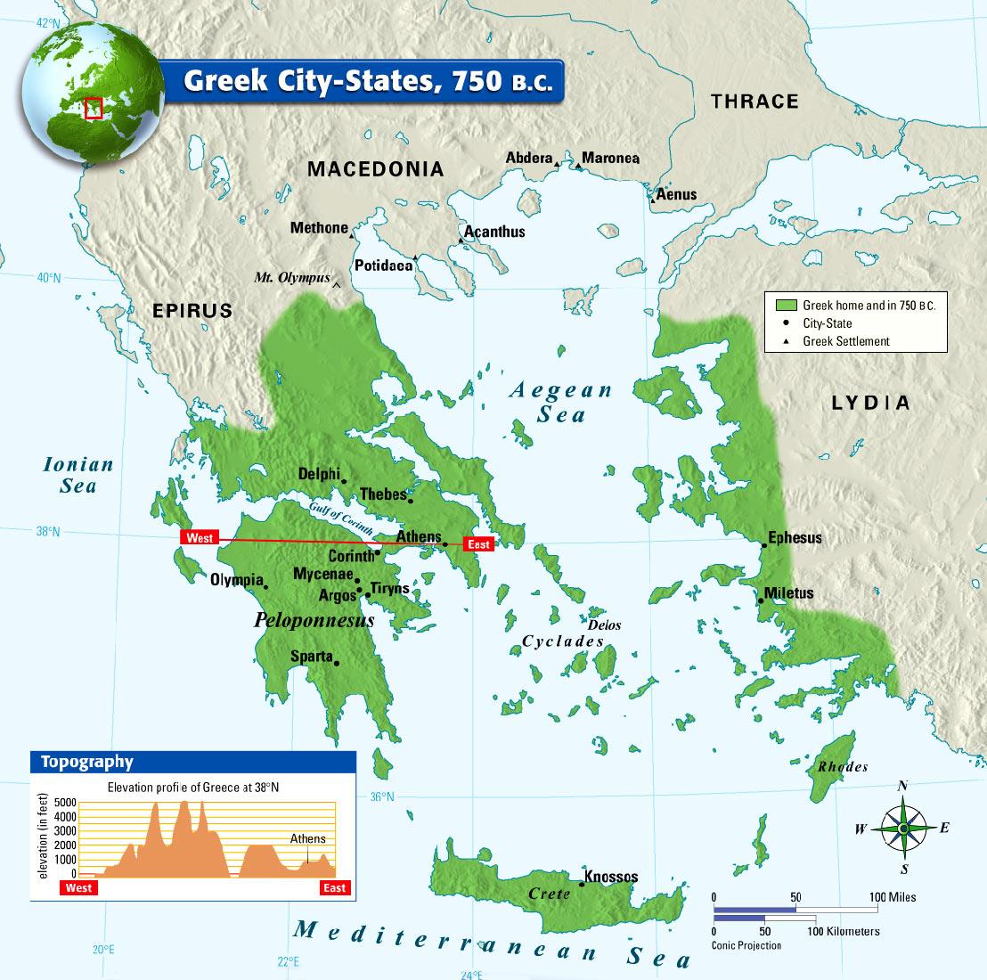 Mt Olympus Greece Map - Olympus map