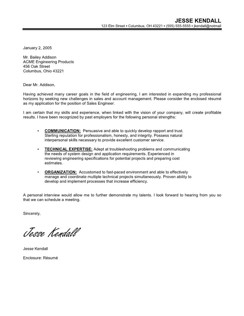 Cover Letter Engineering Internship Cover Letter Examples