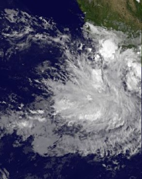 Pazifik aktuell: Tiefdruckgebiet nahe Acapulco könnte zum Tropische Sturm HILARY werden, Hilary, 2011, Acapulco, aktuell, August, Colima, Guerrero, Hurrikansaison 2011, Pazifik, Mexiko,