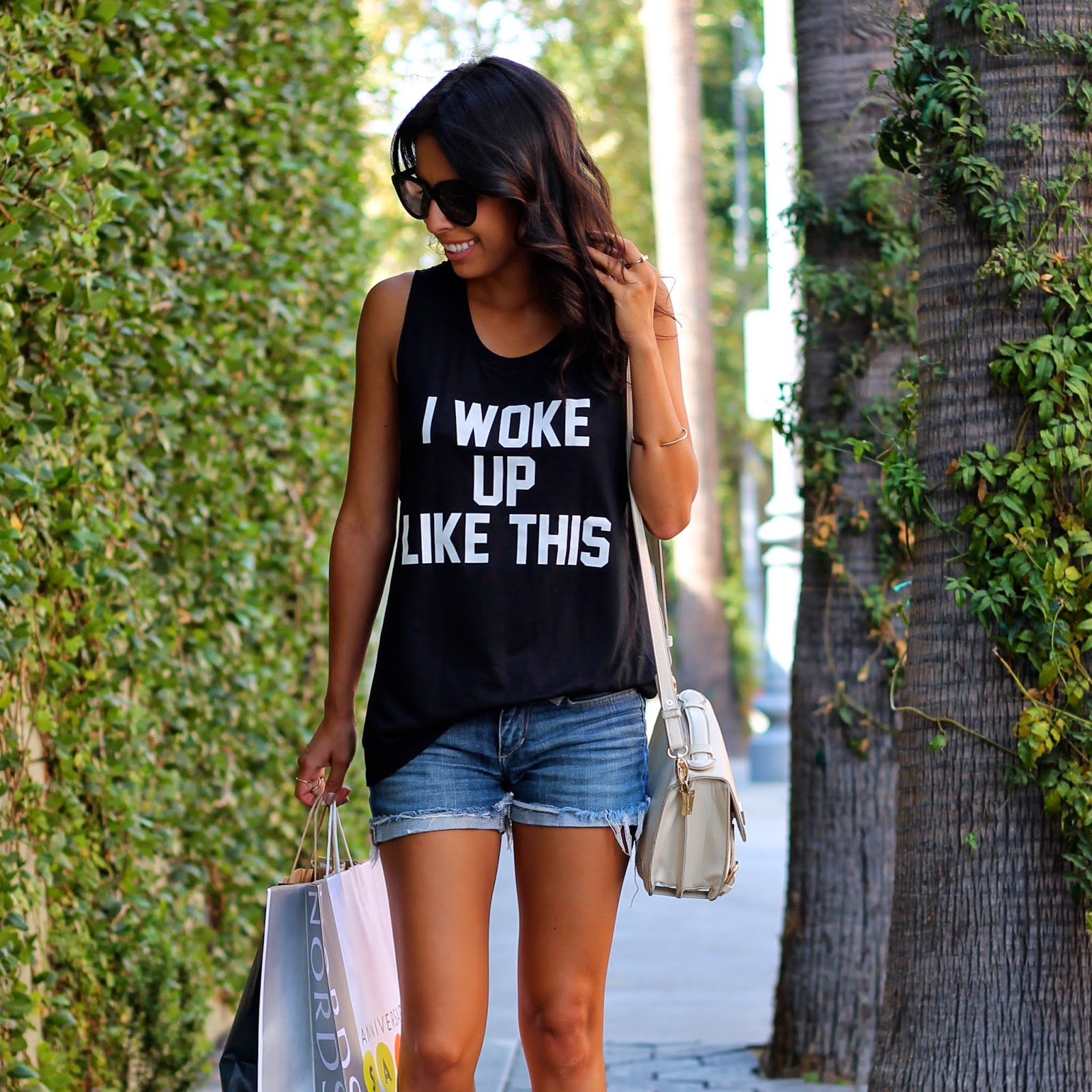 i woke up like this shirt, tank, summer outfit, graphic t