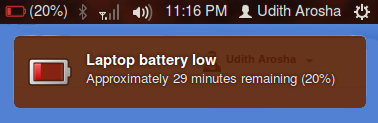 how to set low battery warnings on a windows