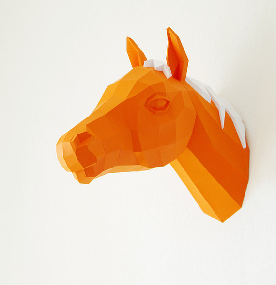 beatiful-horse paper crafts-diagram-instructions