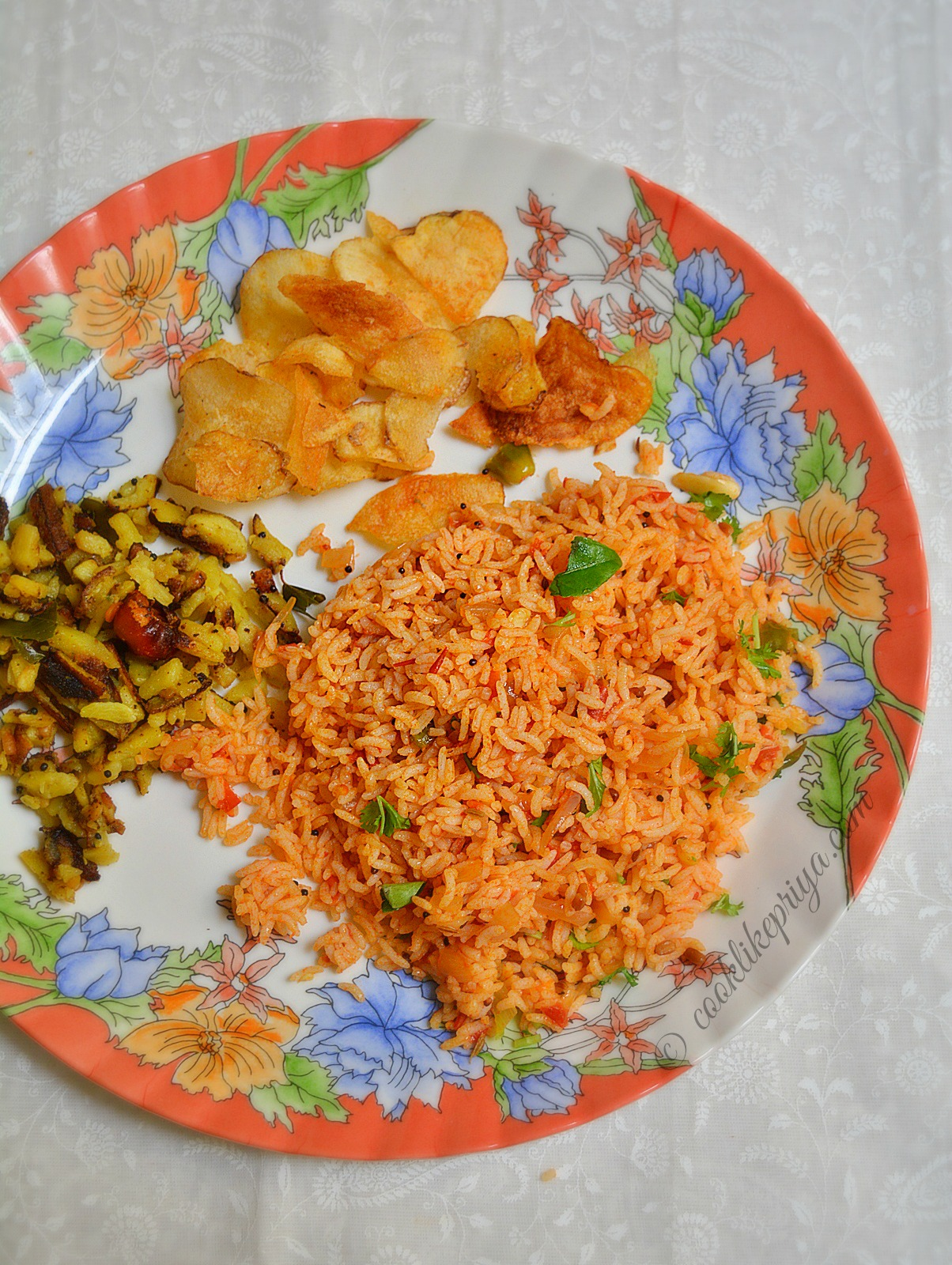 Tomato Rice | Thakkai Sadam Recipe