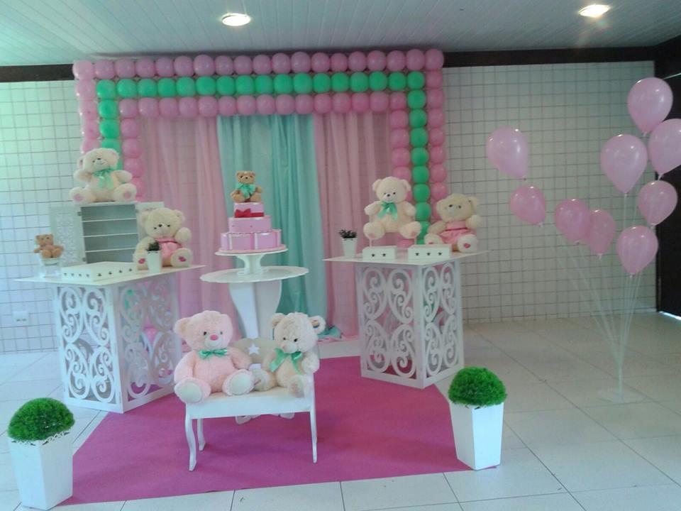 Ursos verde e rosa provençal com tela de PDS