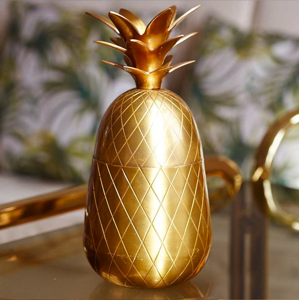 Retro brass pineapple - French For Pineapple Blog