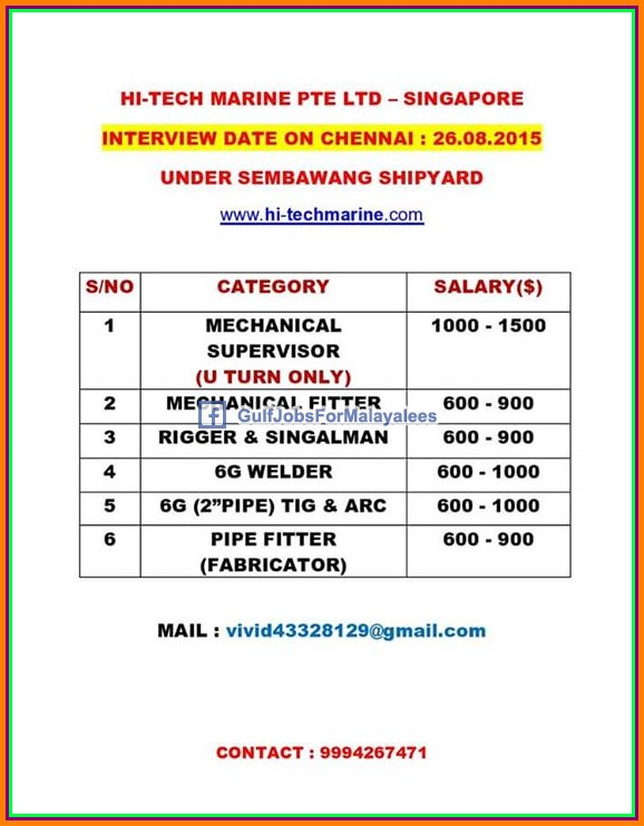 Singapore Shipyard large job vacancies  sc 1 st  Gulf Jobs for Malayalees : 6g pipe welding salary - www.happyfamilyinstitute.com