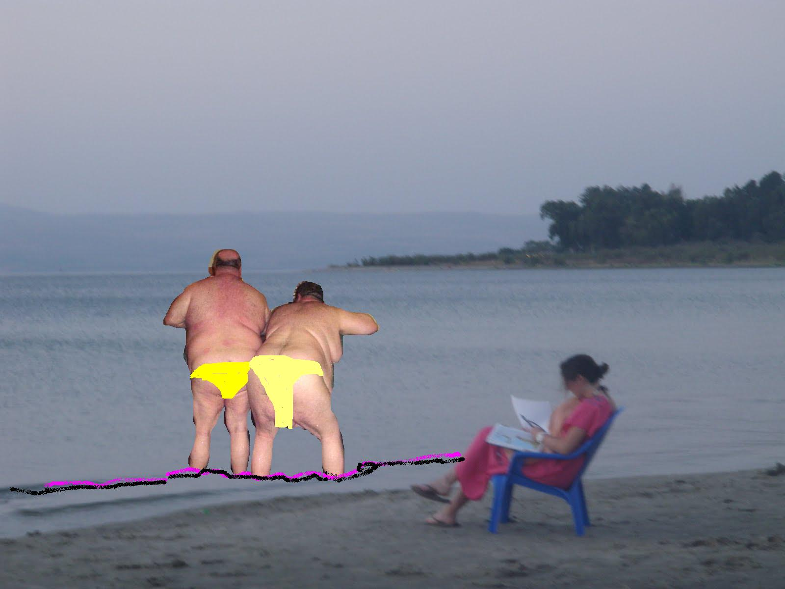 +BUS PLUNGE EXCLUSIVE: Two naked fat men wearing photoshopped speedos ...