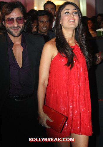 Kareena Kapoor with Saif Ali Khan - (10) - Kareena Kapoor in RED Dresses