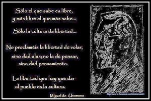 REFLEXIÓN DE MIGUEL DE UNAMUNO SOBRE LA LIBERTAD Y LA CULTURA