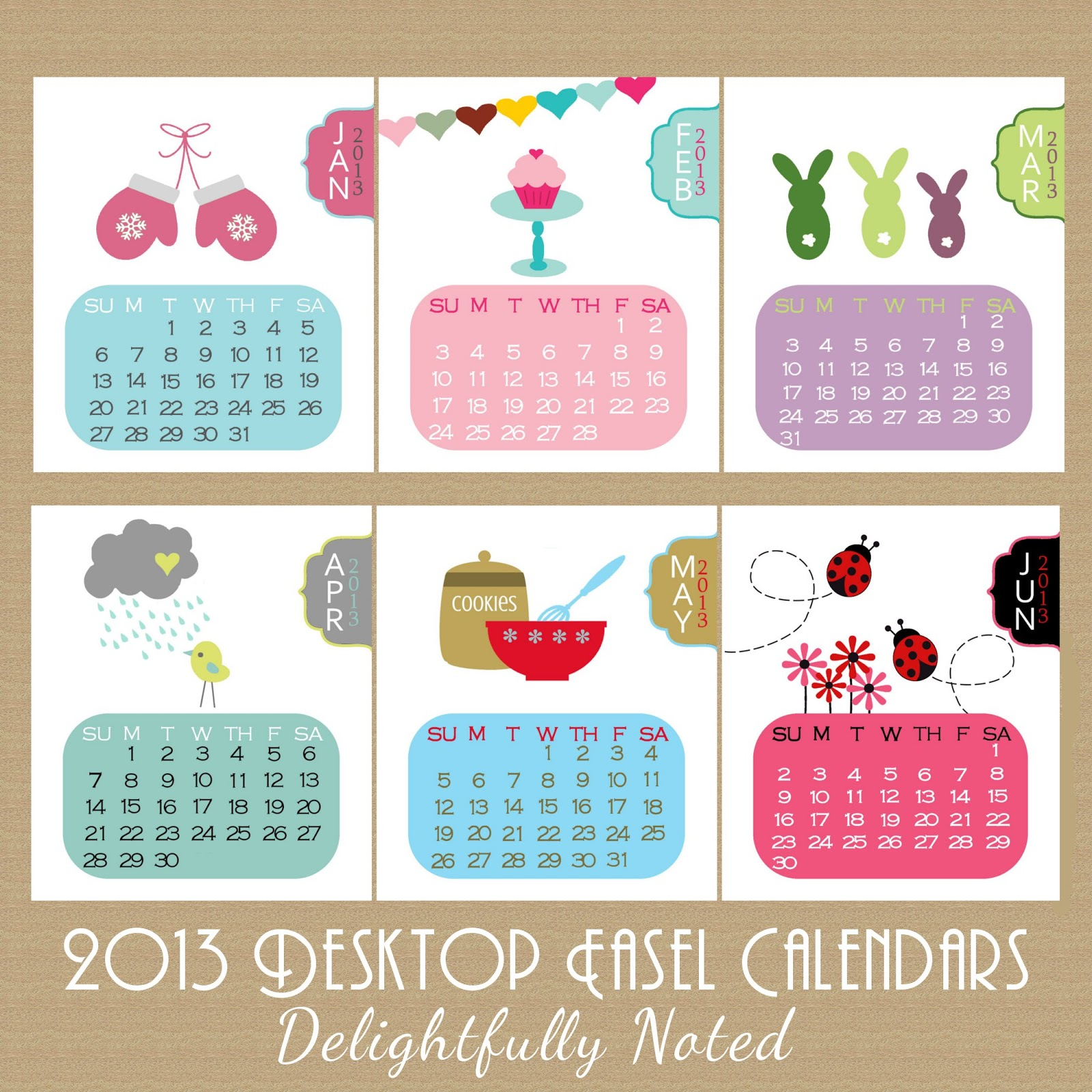 Creative Table Calendar Ideas : They re here the delightfully noted desk calendar