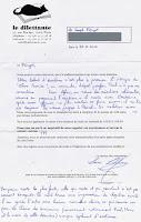 Lettre de refus Dilettante