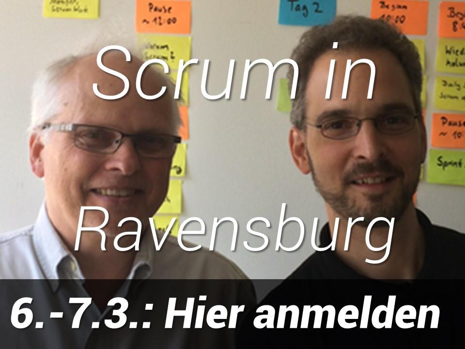 Scrum in Ravensburg, 6.-7. März 2019