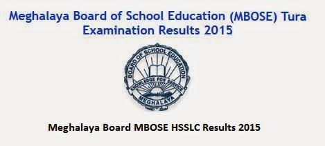 Meghalaya Board MBOSE HSSLC Results 2015