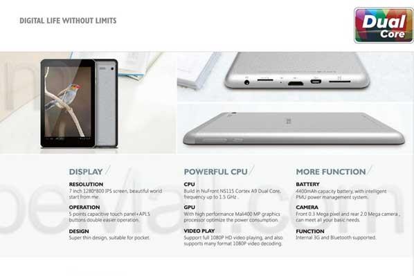 Spesifikasi Ainol Novo 7 Eos 3G