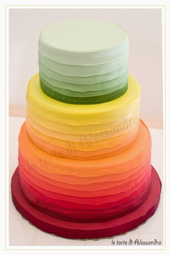 Le Torte Di Alessandra Rainbow Cake Torta Nuziale