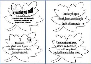 Sınıf Panosu İçin Atatürk Sözleri