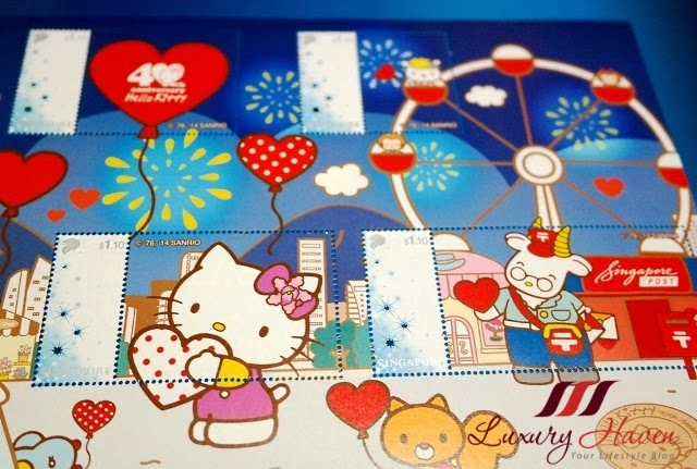 singpost postpac hello kitty stamp collection