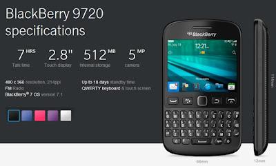 Hace unos días BlackBerry presento oficialmente el nuevo dispositivo BlackBerry 9720 el cual será destinado a todos los mercados emergentes y a todos aquellos usuarios que aún utilizan la plataforma BlackBerry 7.1. Según un comunicado de prensa las tiendas en mercados seleccionados se espera que tengan disponible el dispositivo en las próximas semanas. El dispositivo BlackBerry 9720 hará su debut en el Reino Unido el cual tendrá lugar en el mes de septiembre, con el resultado de que algunos distribuidores han decidido revelar el precio de uno de los últimos dispositivos con el último OS 7.1. Los posibles precios filtrados