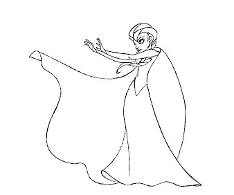 #5 Disney Frozen Coloring Page