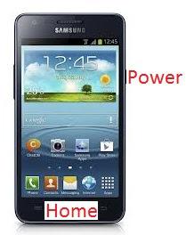 Capture d'écran sur Galaxy S2
