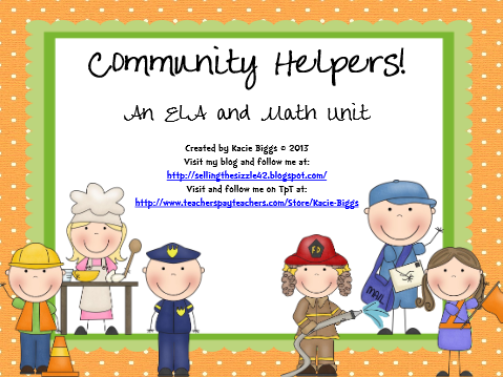 http://www.teacherspayteachers.com/Product/Community-Helpers-Unit-917971