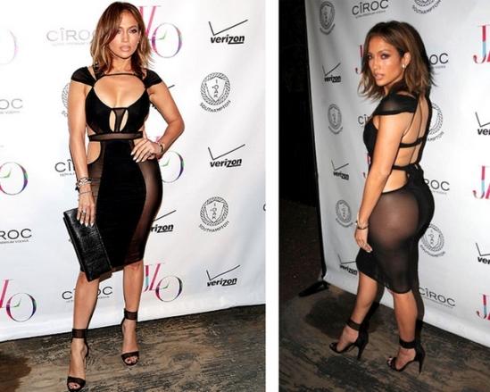fashion assistance: jennifer lópez y su horroroso vestido de cumpleaños