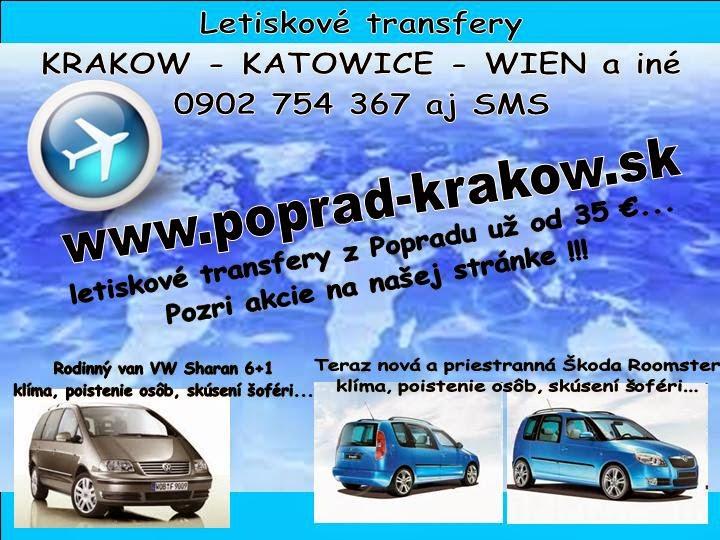 transfer krakow letisko