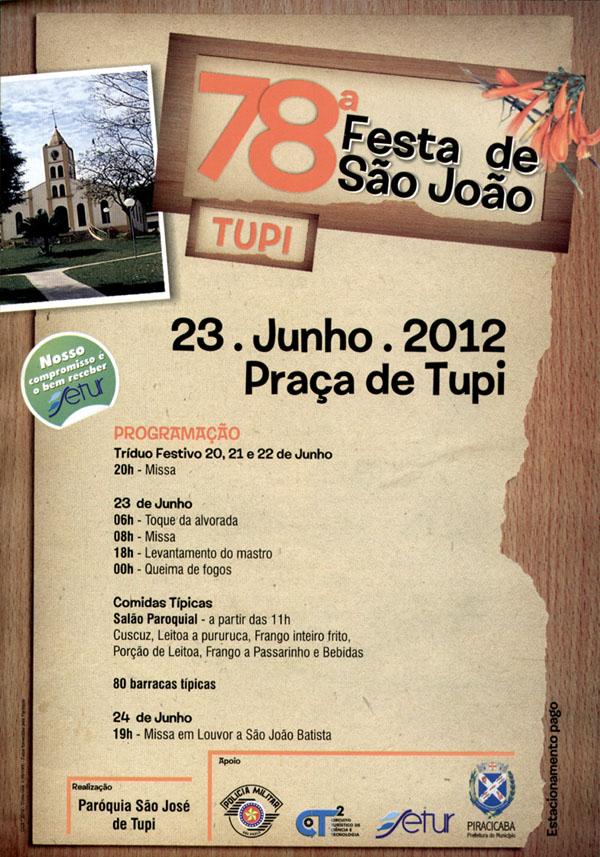 2012 Festa São João - Tupi