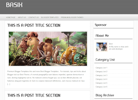 Basix Blogger Theme