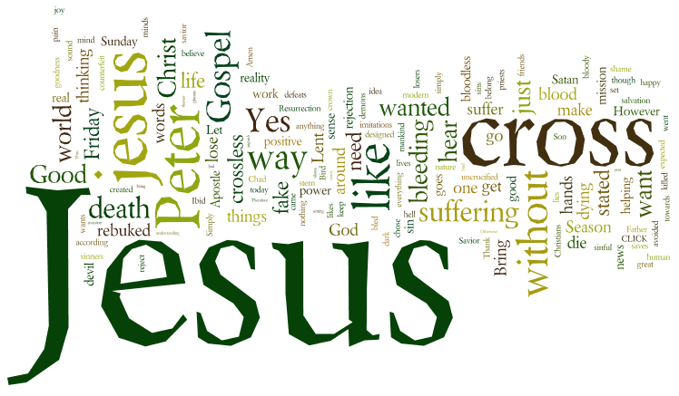 You Do Not Have A Crossless, Uncrucified, 'Precious Moments' Jesus