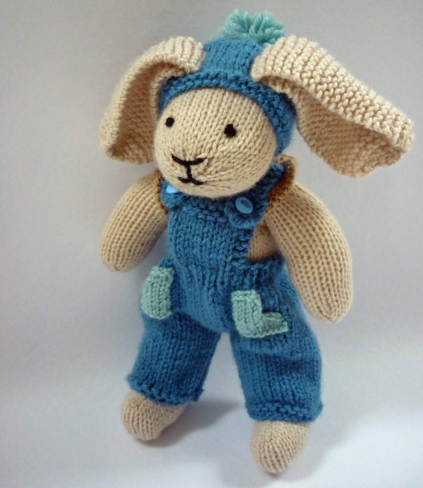 Knitted Bunnies Free Pattern : Mack and Mabel: Free Knitting Pattern for Rabbit Trousers