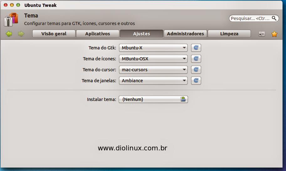 Configurando o tema Mac OSX no Ubuntu
