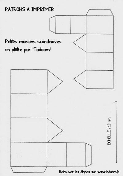 Tadaam diy tuto petites maisons scandinaves en pl tre - Maison en papier a imprimer ...