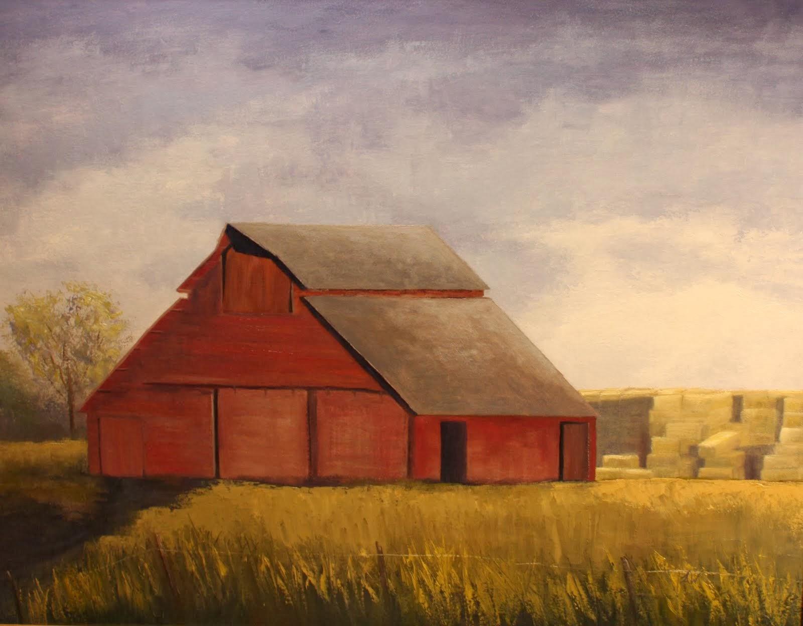 """Red Barn"" 24x30"