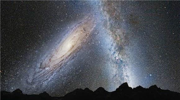 Mungkinkah Galaksi Bertabrakan di Alam Semesta Memuai?