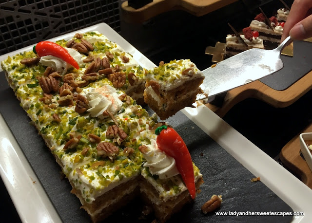 carrot cake at Ginger in Park Rotana