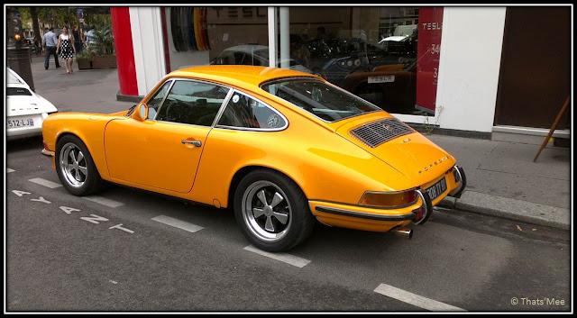 vieille Porsche orange