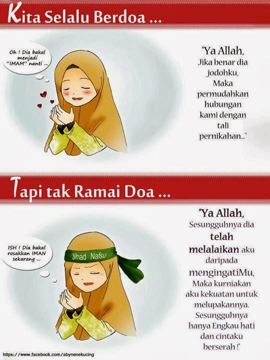 kartun muslimah, mujahadah melawan nafsu, cinta, couple islamic, zina hati