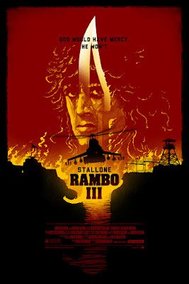Rambo III Screen Print by Marko Manev