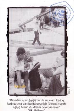 """Postcard """"Buruh"""""""