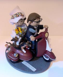 orme magiche cake topper cartoon scultura torta nuziale sposini sposi decorazione fatte a mano scolpite modellini