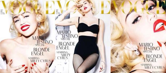 Miley Cyrus en Vogue en topless