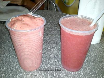 Açaí & Saúde: Sucos de Morango com Sorvete e de Morango com Uva