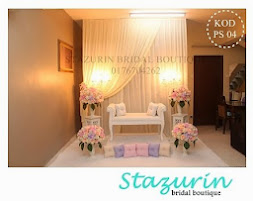Pelamin Tunang Tirai Moden Eksklusif Gabungan Tema Warna Pastel Peach Pink+Pastel Purple+Cream 2014