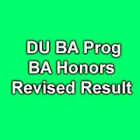 Delhi University BA Prog & BA Honors Result